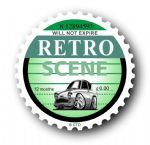 Retro TAX DISC Replacement Design With Koolart Ford Anglia 105e External Vinyl Car Sticker 75x75mm